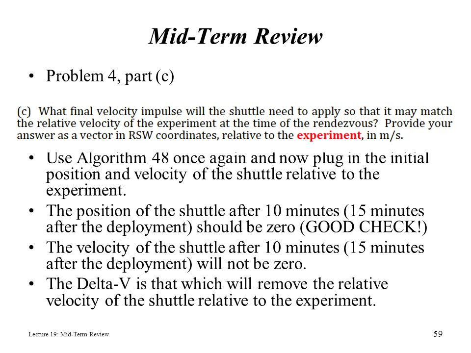 Mid-Term Review Problem 4, part (c)