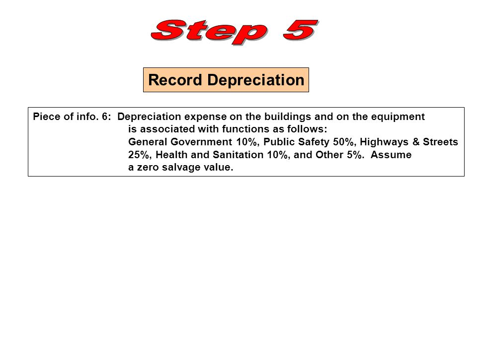Step 5 Record Depreciation
