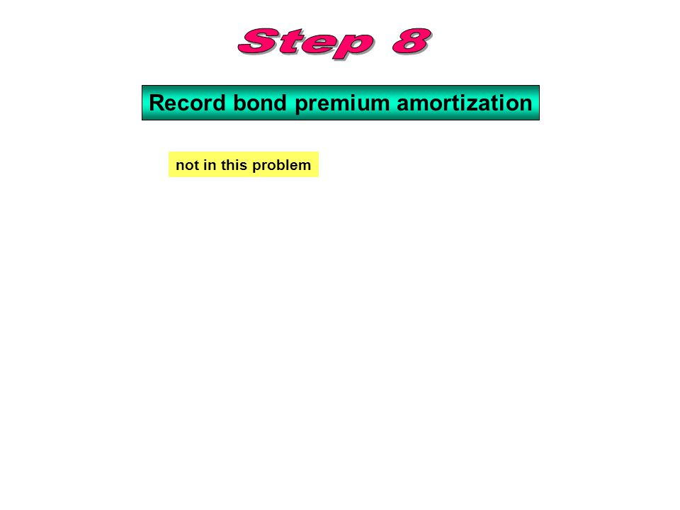 Record bond premium amortization