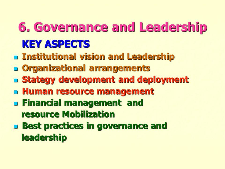 6. Governance and Leadership