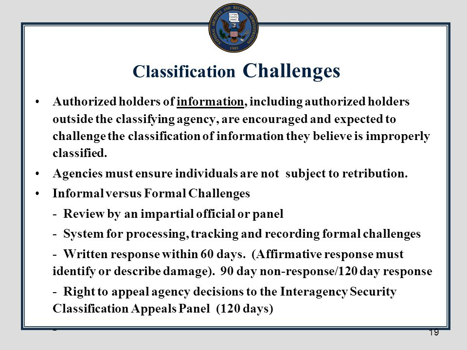 Classification Challenges
