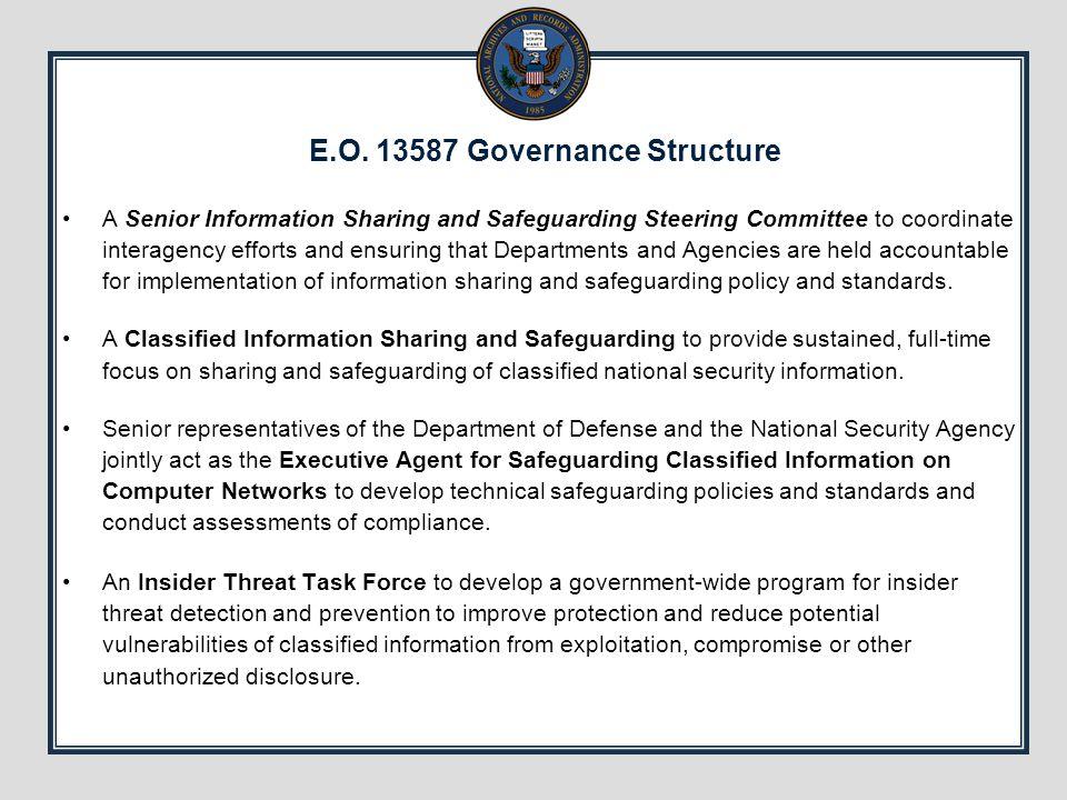 E.O. 13587 Governance Structure