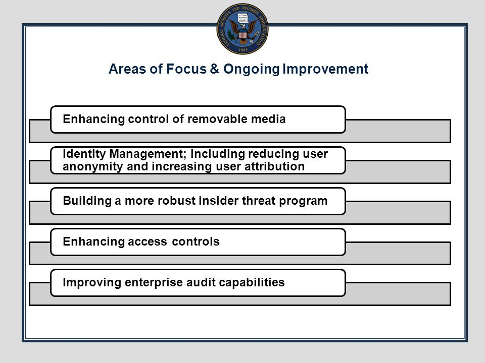Areas of Focus & Ongoing Improvement