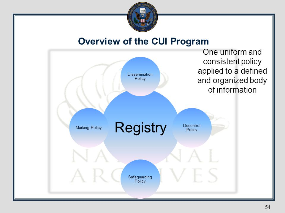 Overview of the CUI Program