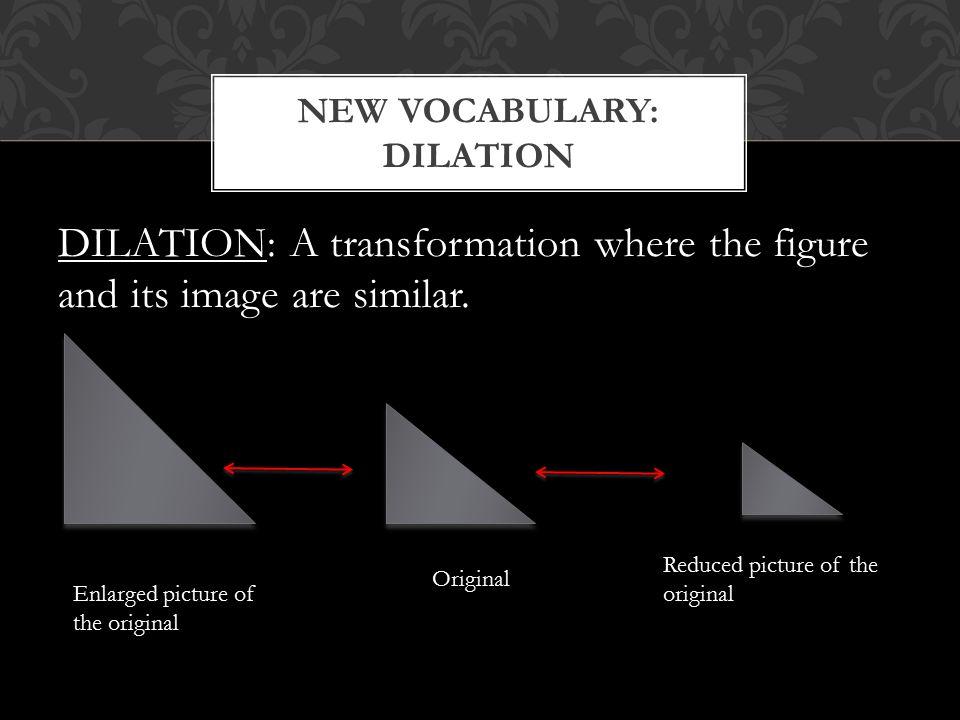 New Vocabulary: DIlation
