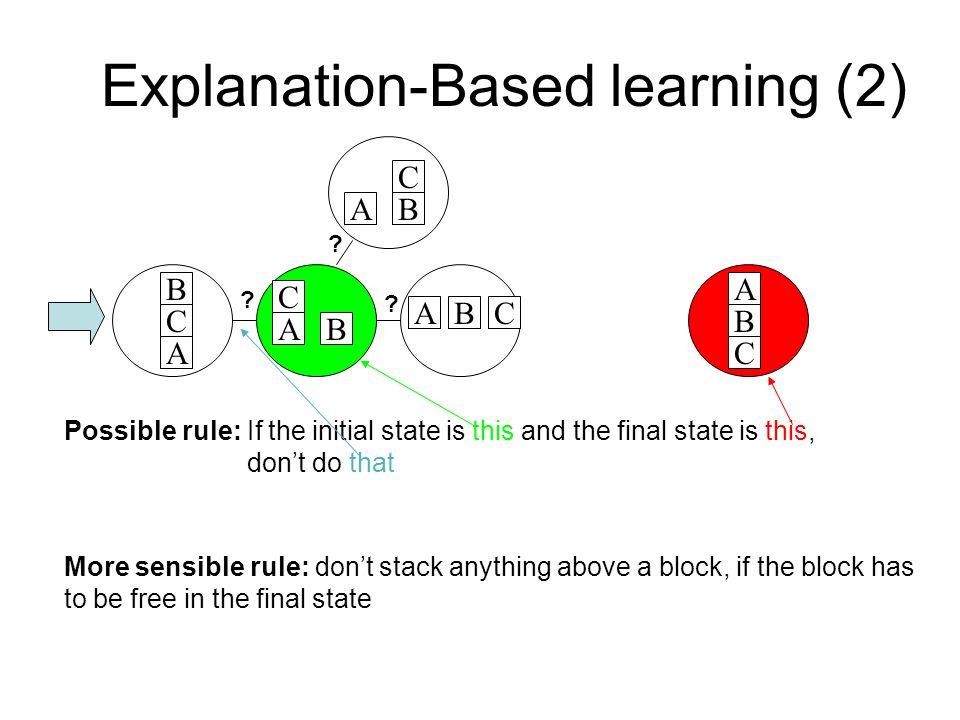 Explanation-Based learning (2)