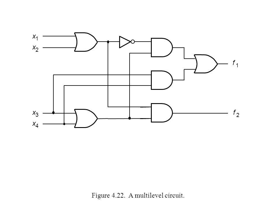 Figure 4.22. A multilevel circuit.