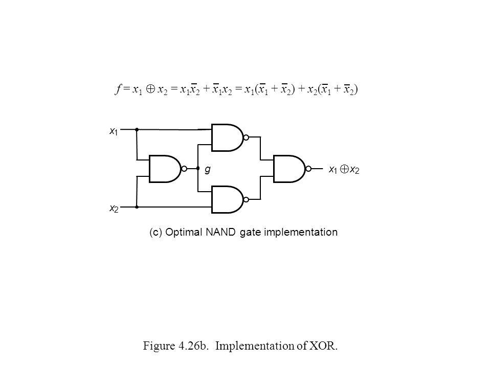 Figure 4.26b. Implementation of XOR.