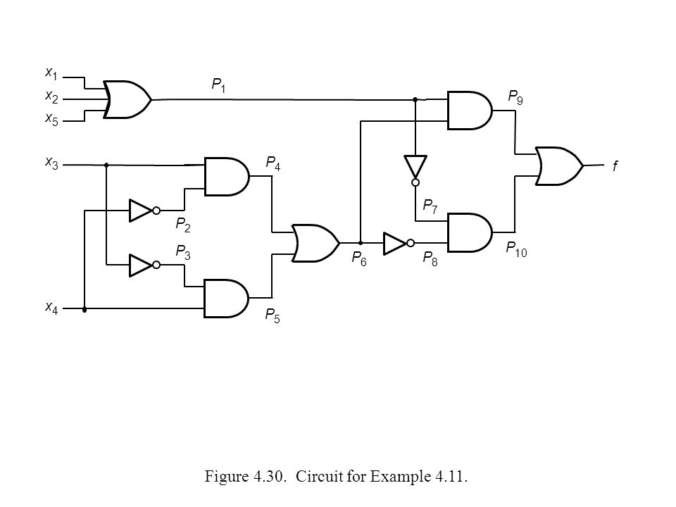 Figure 4.30. Circuit for Example 4.11.