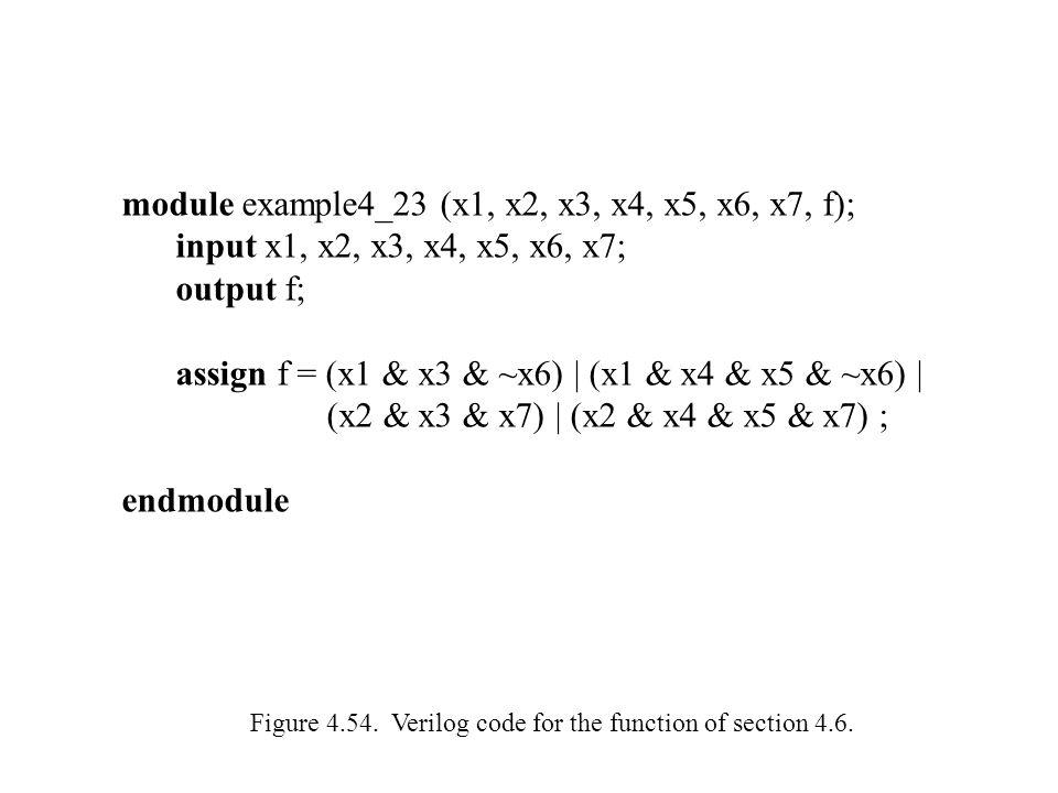 module example4_23 (x1, x2, x3, x4, x5, x6, x7, f);