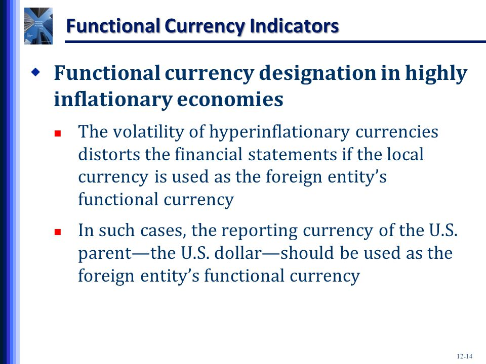 Functional Currency Indicators