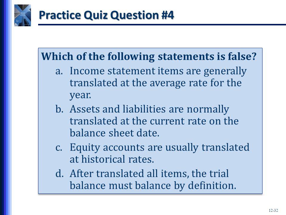 Practice Quiz Question #4
