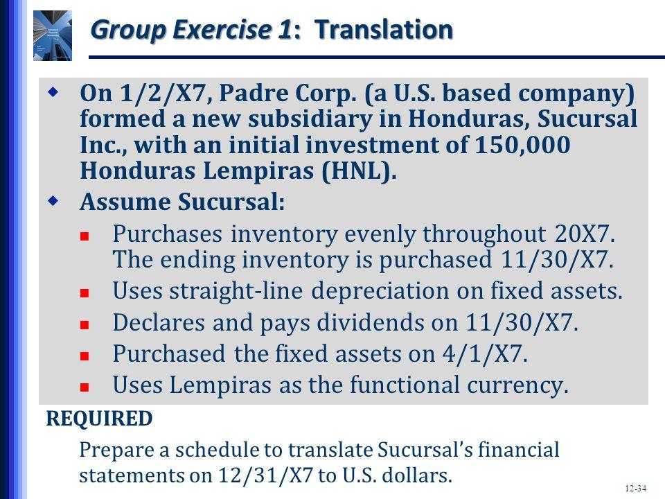 Group Exercise 1: Translation