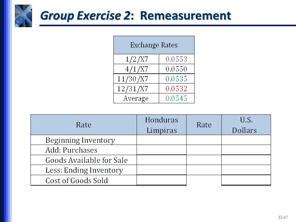 Group Exercise 2: Remeasurement
