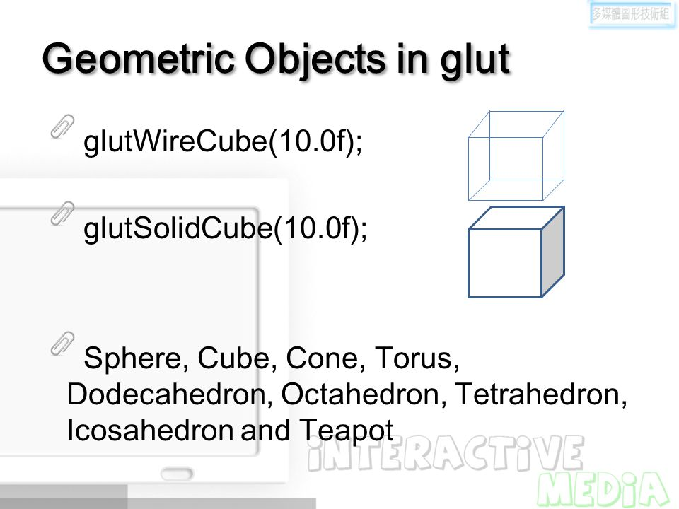 Geometric Objects in glut