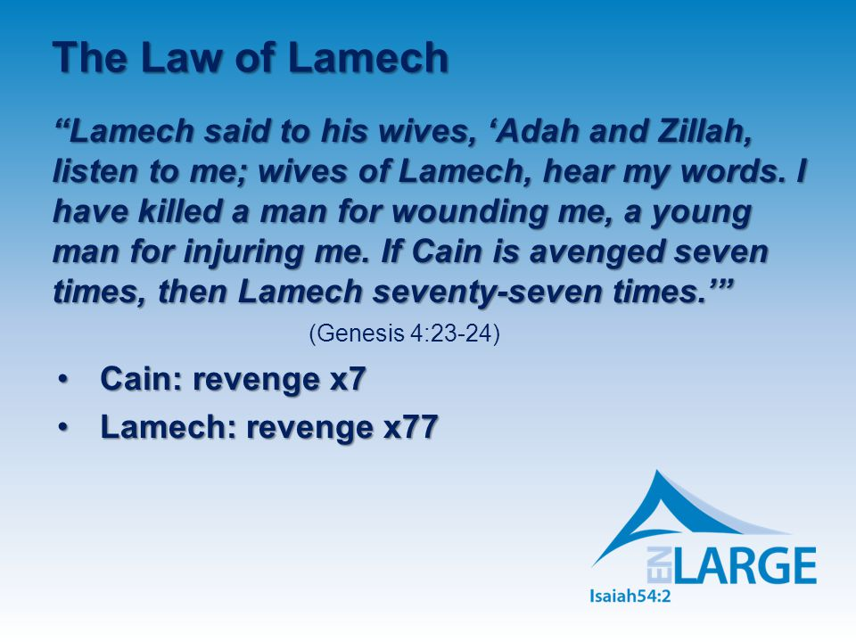 The Law of Lamech