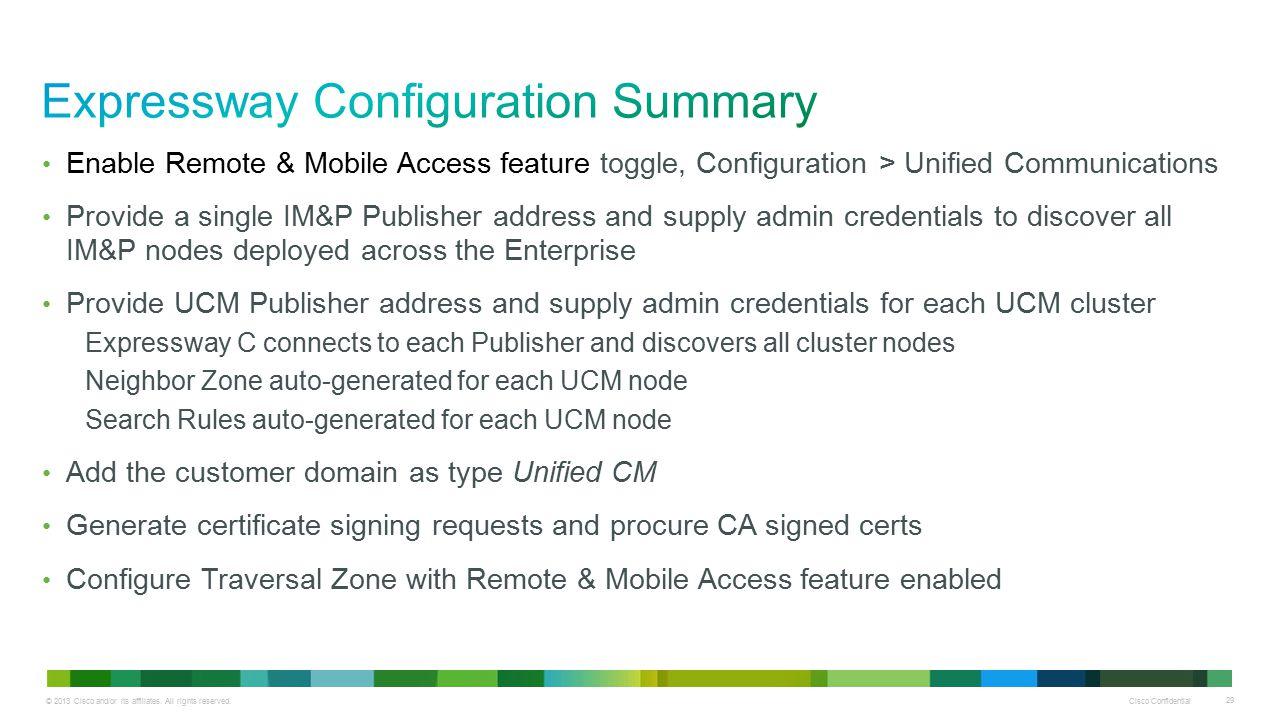 Expressway Configuration Summary