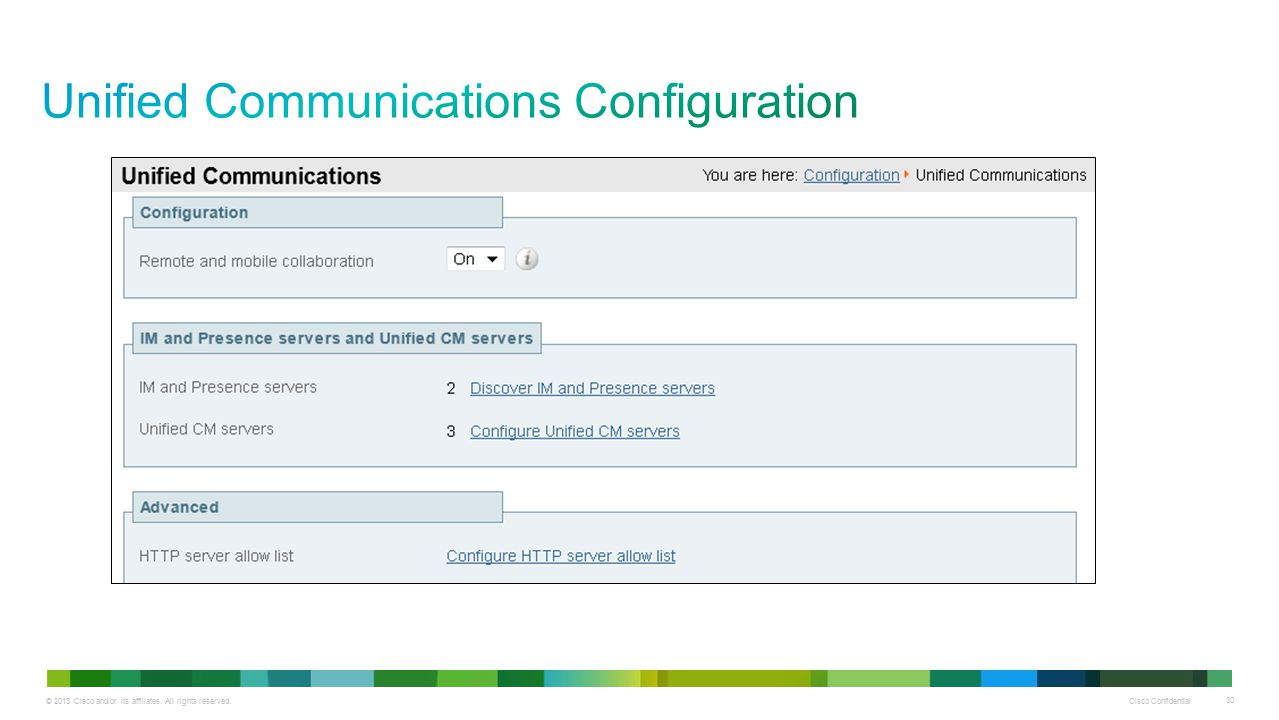 Unified Communications Configuration
