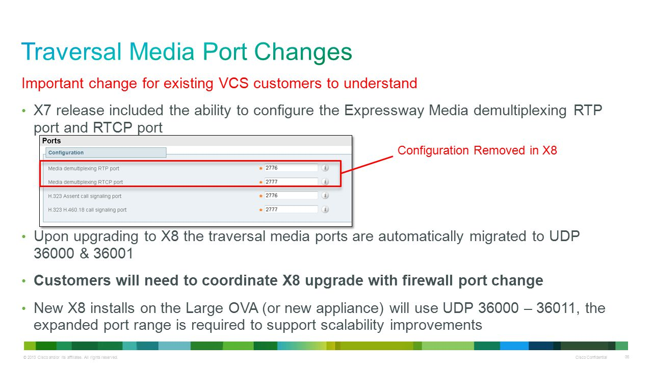 Traversal Media Port Changes