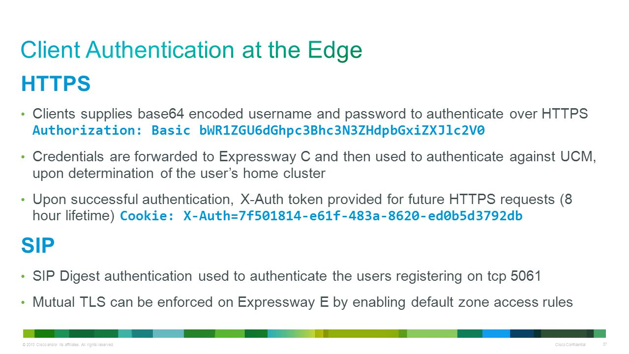 Client Authentication at the Edge