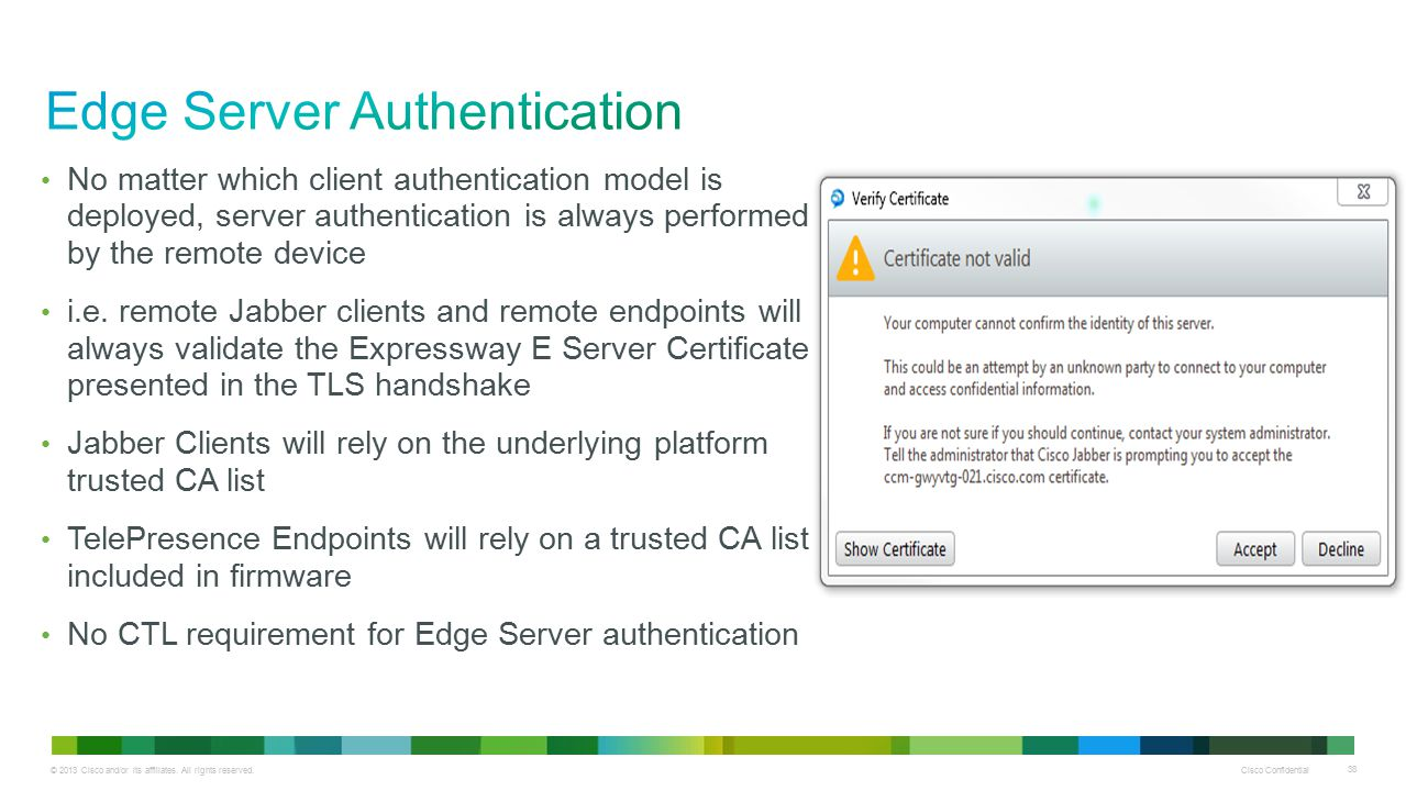 Edge Server Authentication