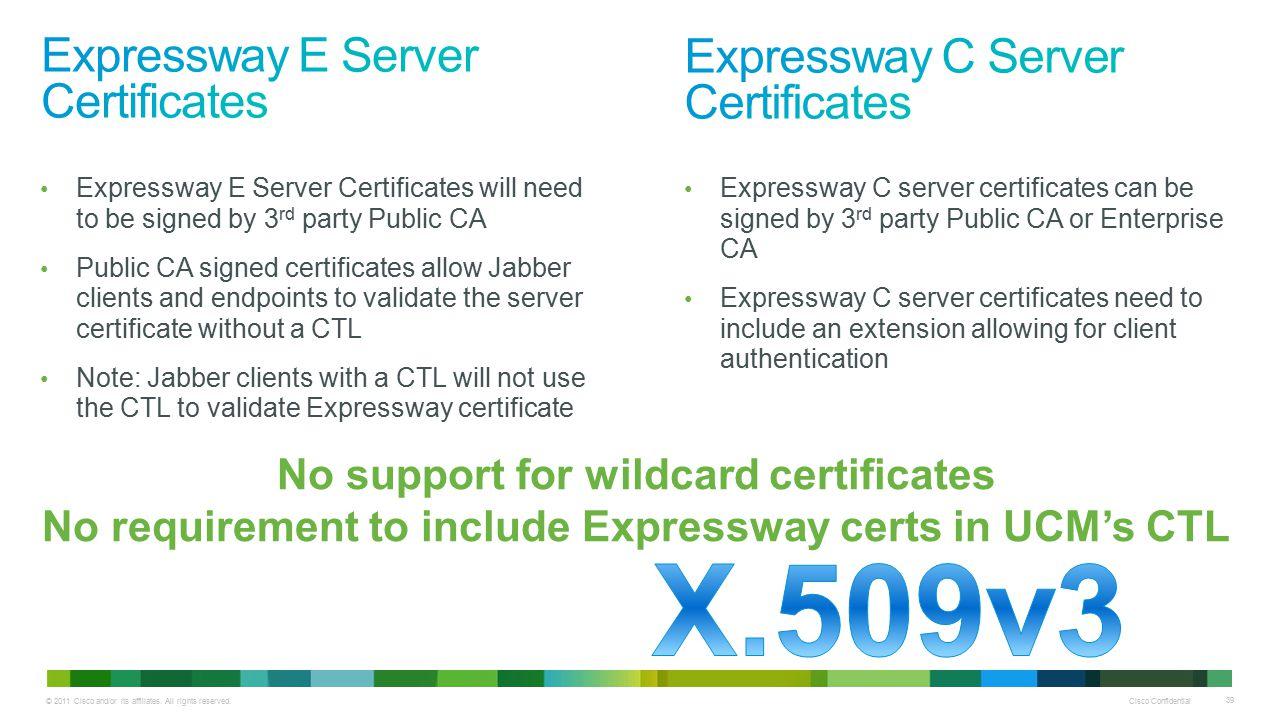 Expressway E Server Certificates