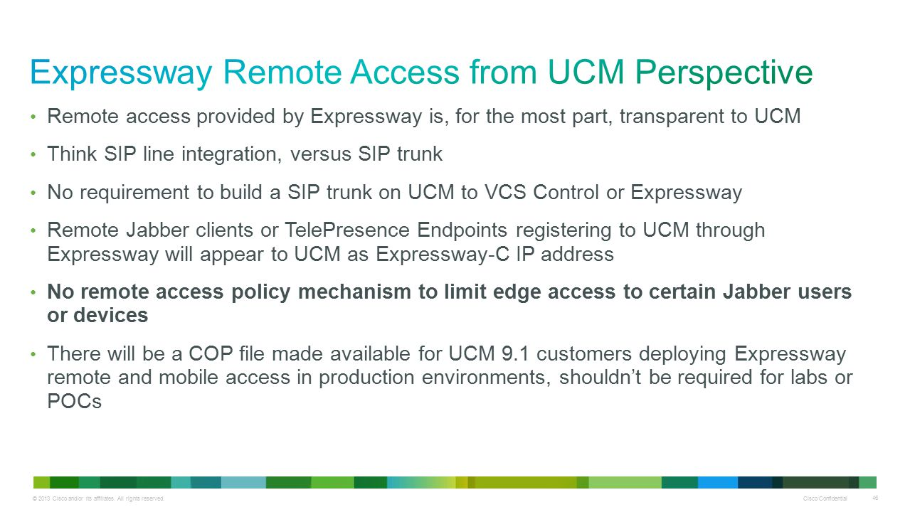 Expressway Remote Access from UCM Perspective