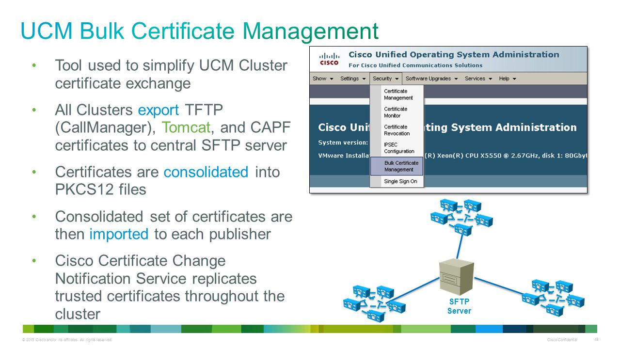 UCM Bulk Certificate Management
