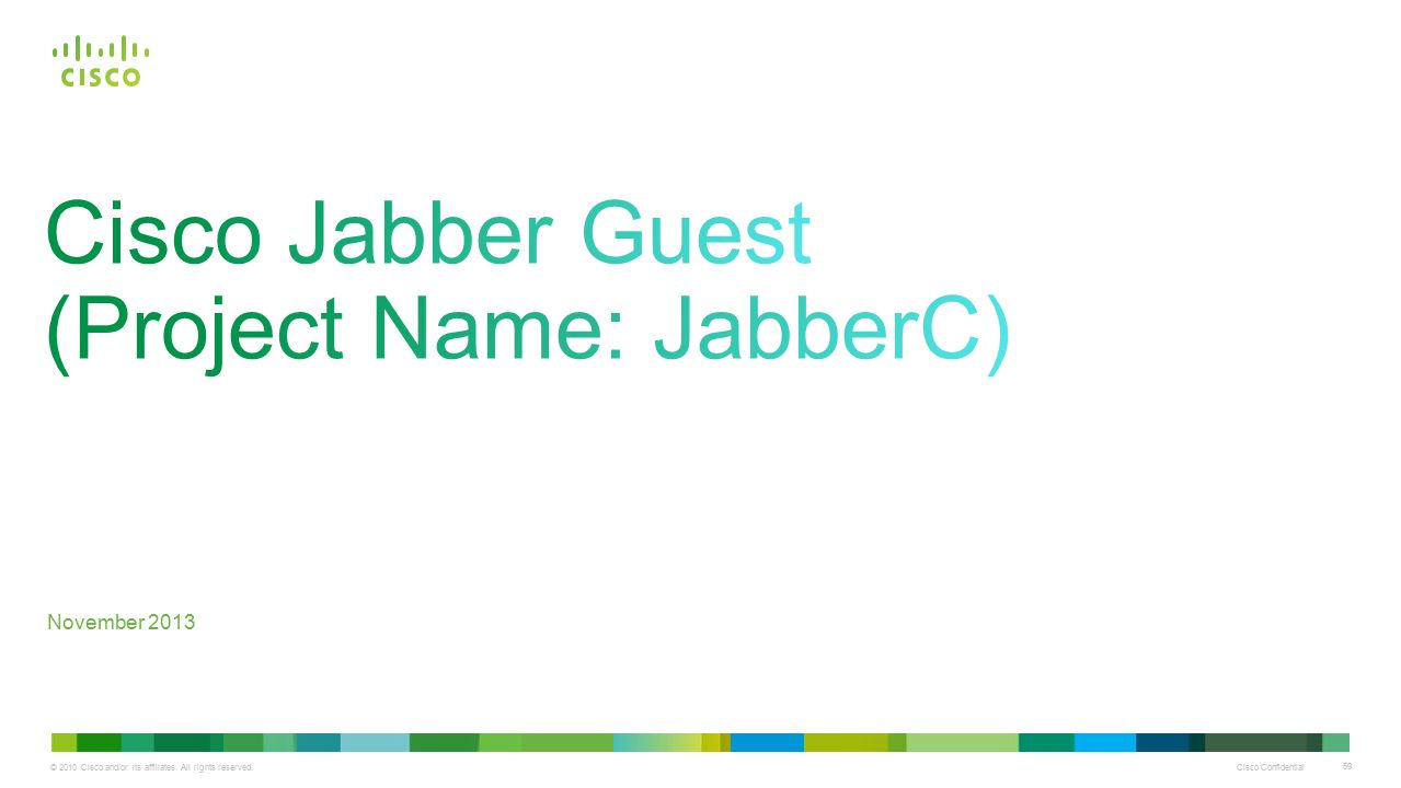 Cisco Jabber Guest (Project Name: JabberC)