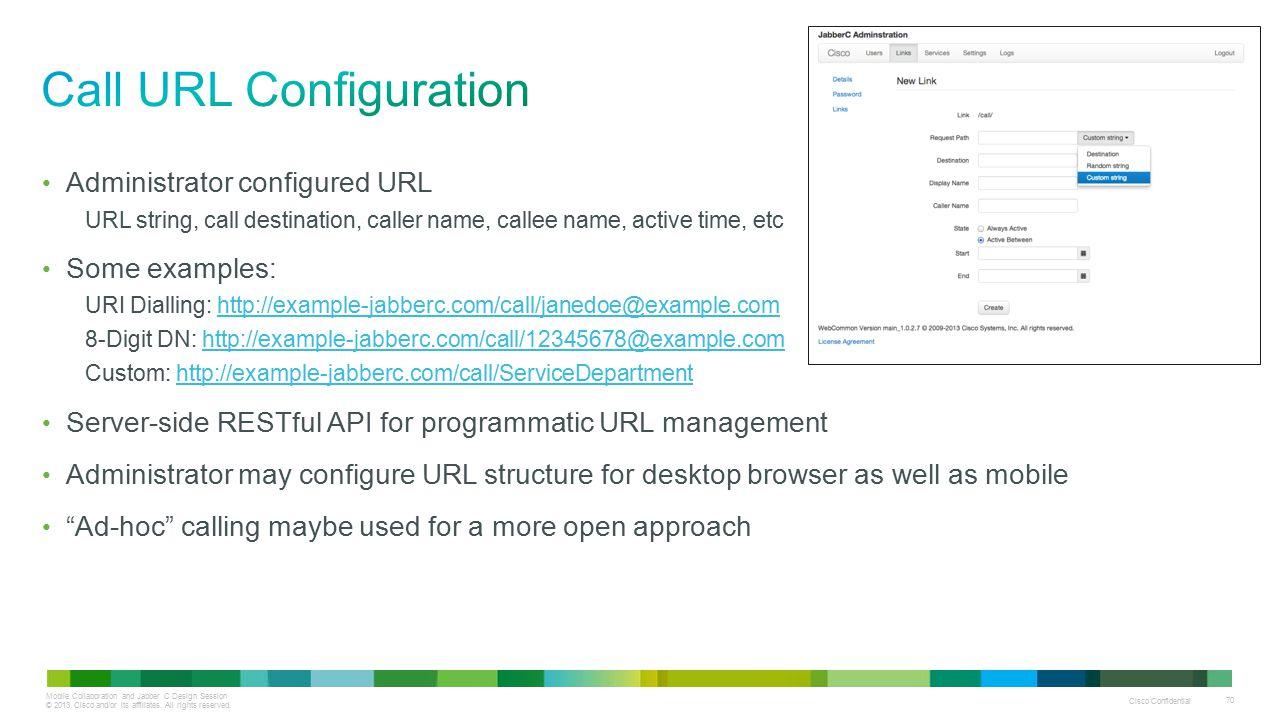 Call URL Configuration
