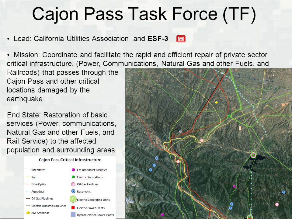 Cajon Pass Task Force (TF)