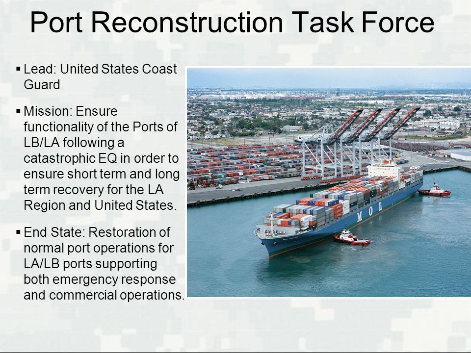 Port Reconstruction Task Force