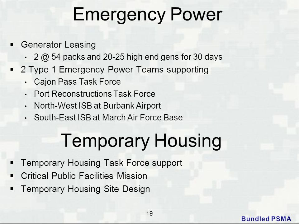 Emergency Power Temporary Housing Generator Leasing
