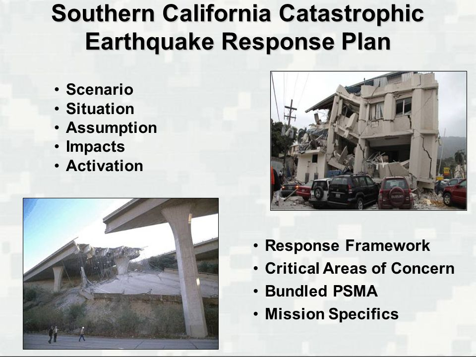 Southern California Catastrophic Earthquake Response Plan