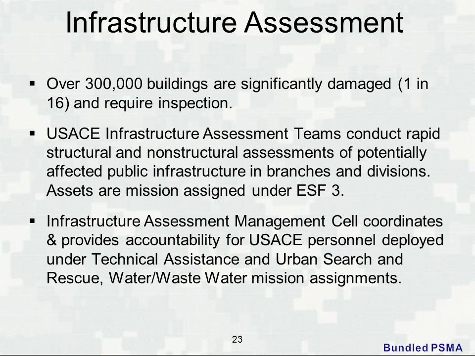 Infrastructure Assessment