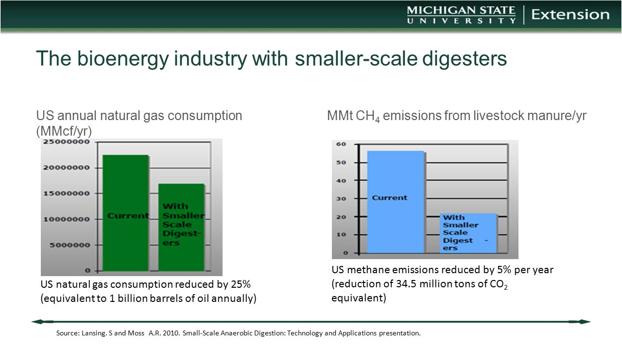 The bioenergy industry with smaller-scale digesters