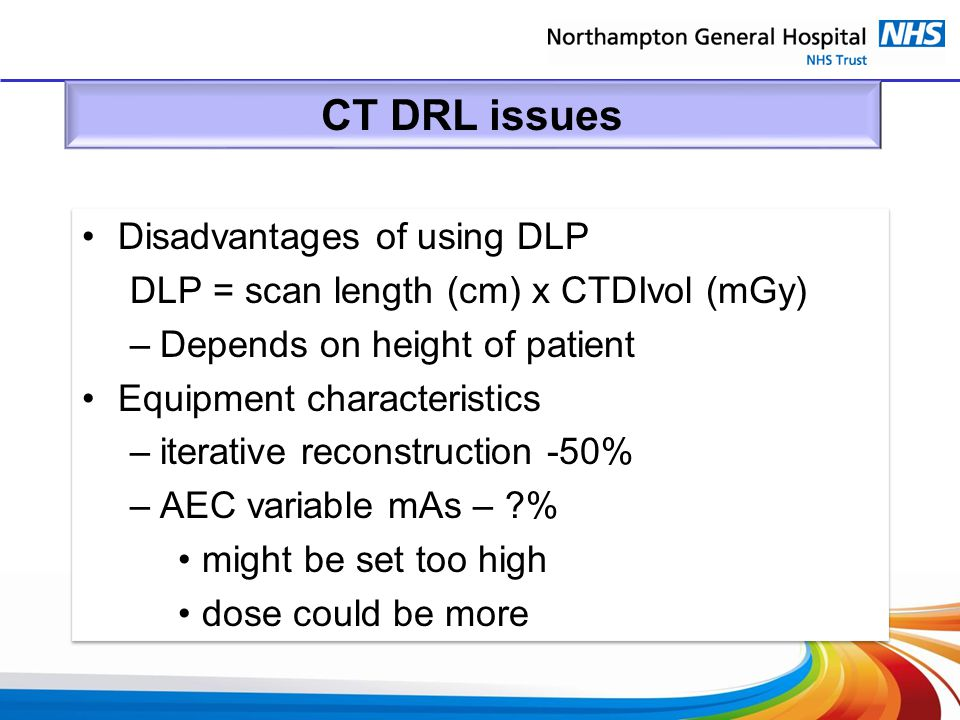CT DRL issues Disadvantages of using DLP