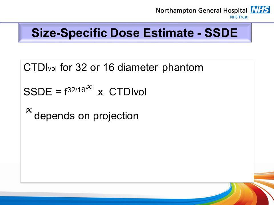 Size-Specific Dose Estimate - SSDE