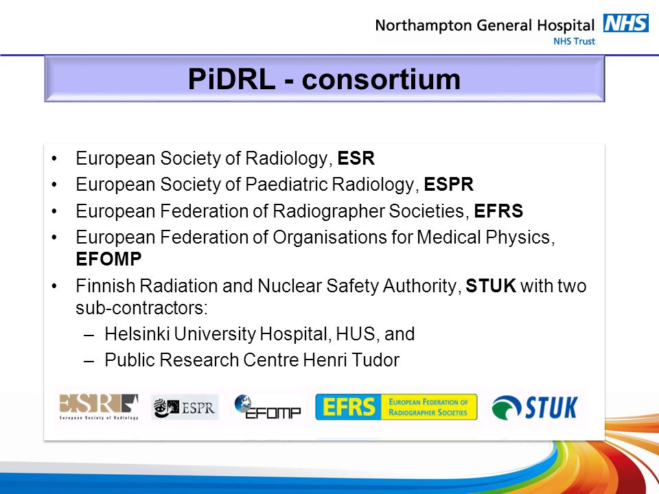 PiDRL - consortium European Society of Radiology, ESR