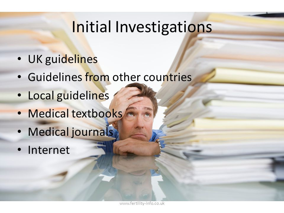 Initial Investigations