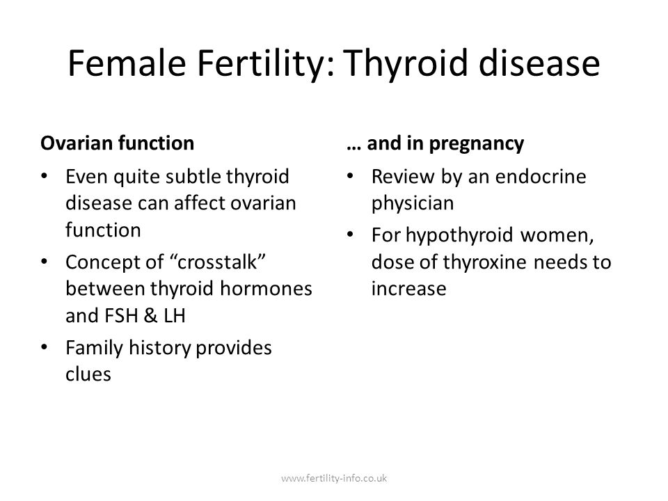 Female Fertility: Thyroid disease