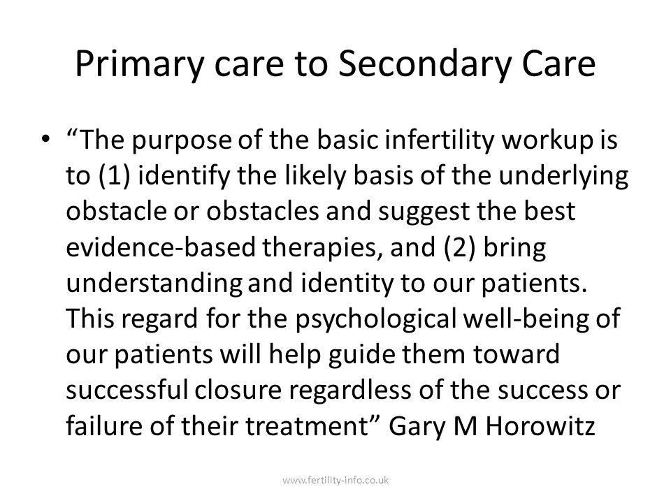 Primary care to Secondary Care