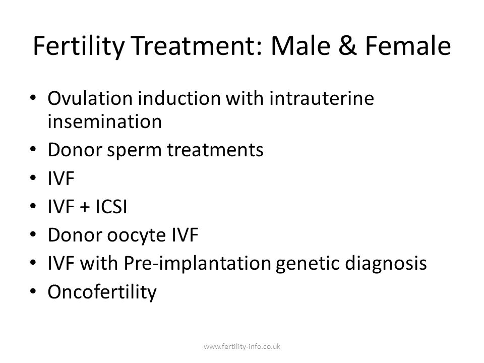 Fertility Treatment: Male & Female