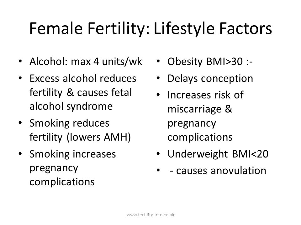 Female Fertility: Lifestyle Factors