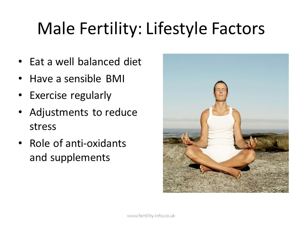 Male Fertility: Lifestyle Factors
