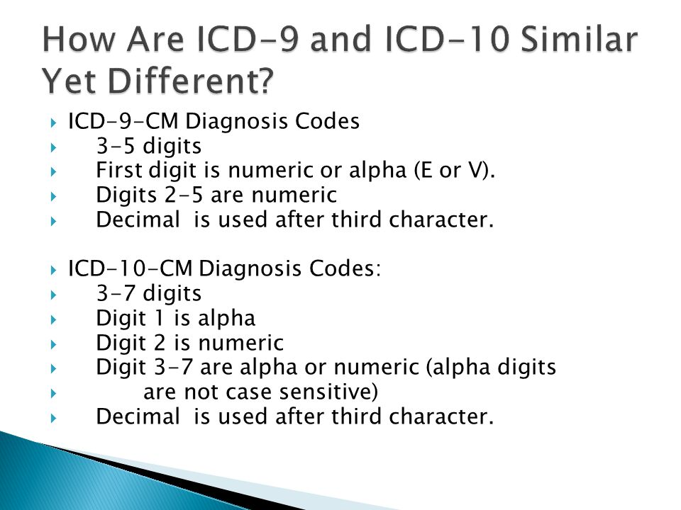 How Are ICD-9 and ICD-10 Similar Yet Different