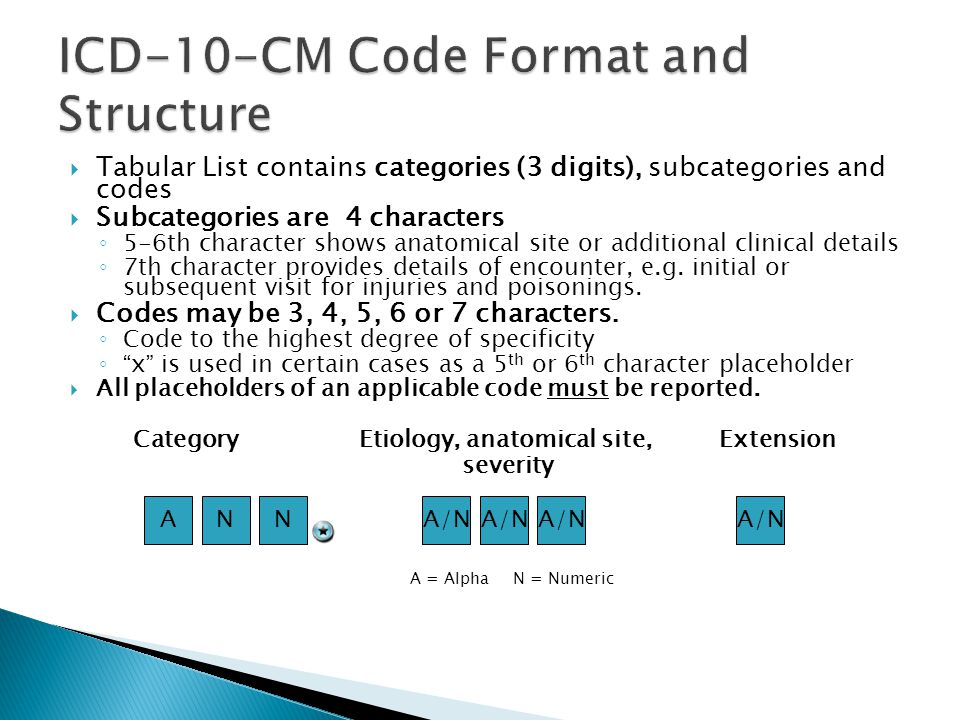 ICD-10-CM Code Format and Structure
