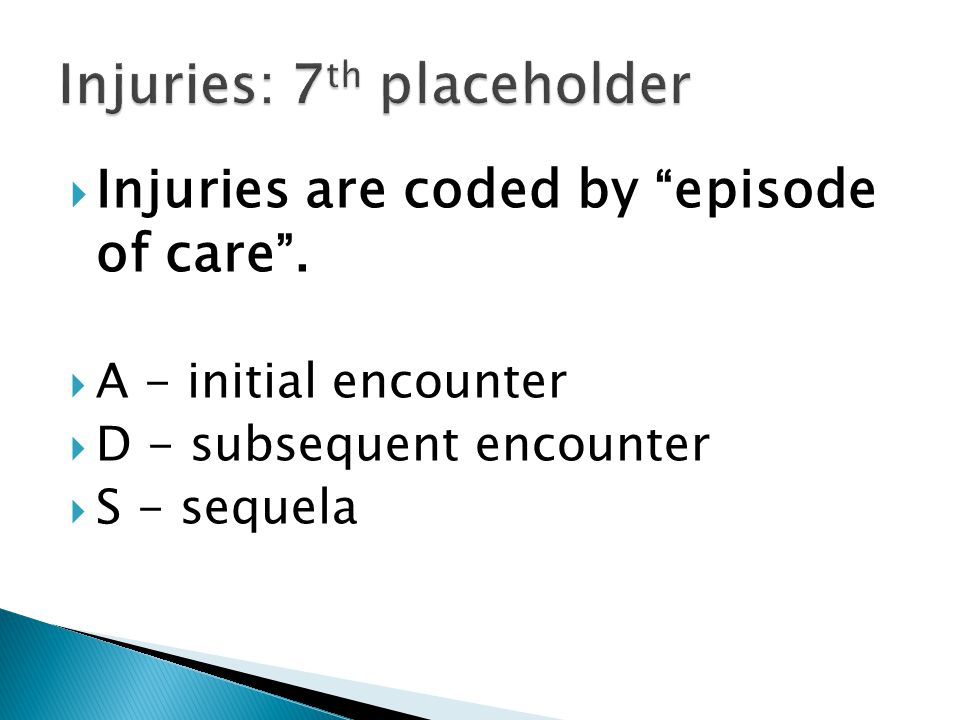 Injuries: 7th placeholder