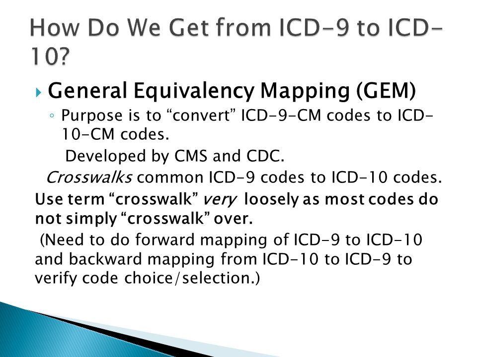 How Do We Get from ICD-9 to ICD-10