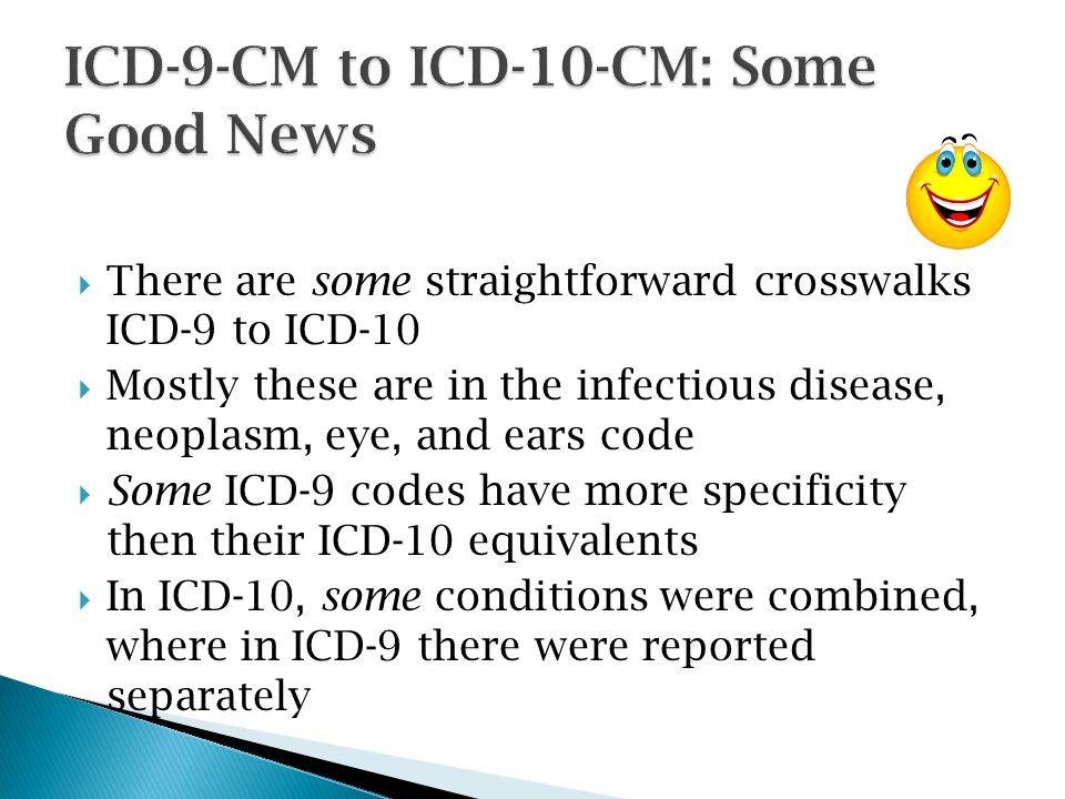 ICD-9-CM to ICD-10-CM: Some Good News